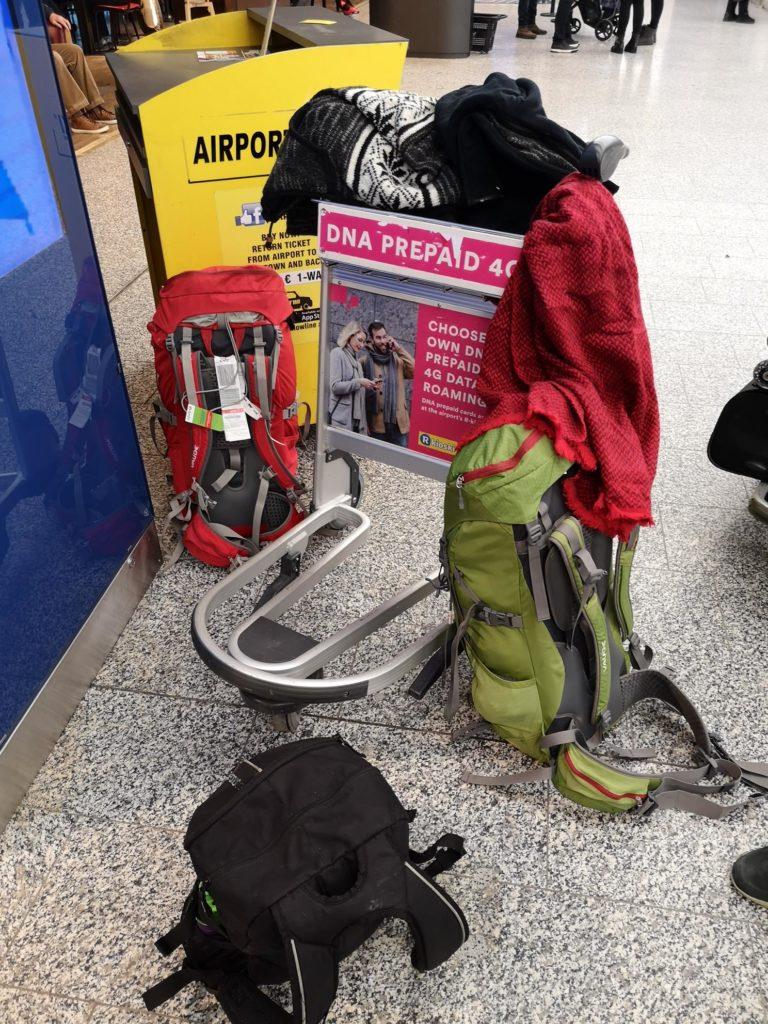 Pagasi hulk tagasi tulles, foto tehtud Helsinki lennujaamas.